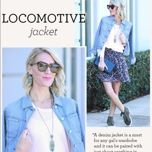 Cabi Locomotive Denim Striped Jacket
